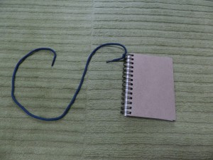 ribbon on notebook